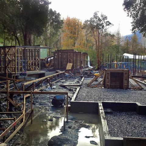 Comienzo Construcción Casa en Lago Villarrica